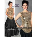 Bollywood Replica - Nargis Fakhri Black Embroidered Bollywood Style Dress - 01 (SIA)