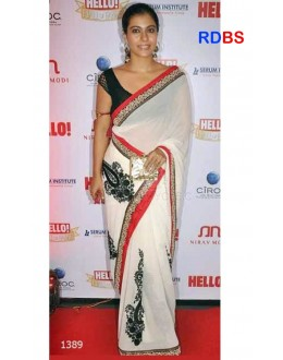 Bollywood Replica - Kajol In Designer Off White Designer Saree (RDBS1389)