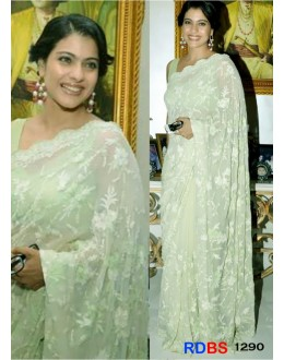 Bollywood Replica - Kajol In Light Green Saree At Lakme Fashion Week (RDBS1290)