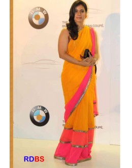 Bollywood Replica - Kajol Yellow Designer Georgette Saree (RDBS1351)