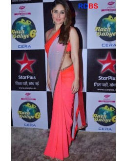 Bollywood Replica - Kareena Kapoor Peach Saree At Nach Baliye 6 (RDBS1355)