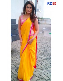 Bollywood Replica - Kareena Kapoor Yellow Georgette Saree (RDBS1353)