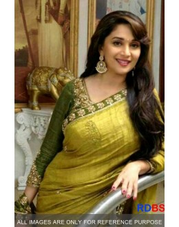 Bollywood Replica - Madhuri Dixit Olive Green Saree (RDBS1270)