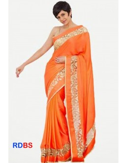 Bollywood Replica - Mandira Bedi Designer Orange Saree (RDBS1369)