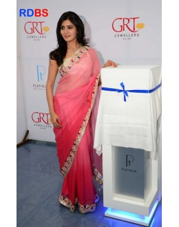 Bollywood Replica - Samantha In Pink Saree At GRT Platinum Jewellers (RDBS1396)