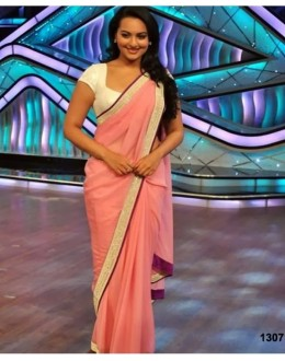 Bollywood Replica - Sonakshi Sinha Pink Designer Saree At DID (RDBS1307)