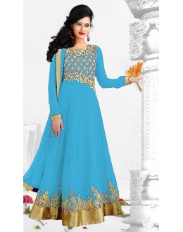 Designer Floor Length Georgette Anarkali Suit - WA0014 (SD-Fashions)