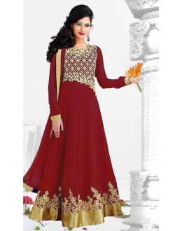 Designer Floor Length Georgette Anarkali Suit - WA0016 (SD-Fashions)