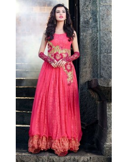Beautiful Anarkali Style Soft Rasal Net Gown - 10001 Karishma (SD-10001)