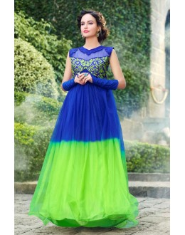 Beautiful Anarkali Style Soft Rasal Net Gown - 10003 Karishma (SD-10001)