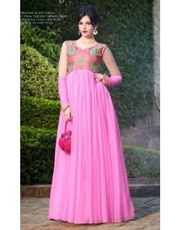 Beautiful Anarkali Style Soft Rasal Net Gown - 10004 Karishma (SD-10001)