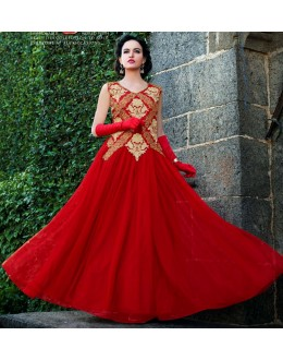 Beautiful Anarkali Style Soft Rasal Net Gown - 10007 Karishma (SD-10001)