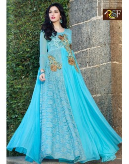 Beautiful Anarkali Style Soft Rasal Net Gown - 10008 Karishma (SD-10001)