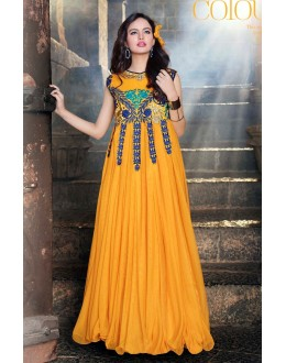 Beautiful Anarkali Style Soft Rasal Net Gown - 10010 Karishma (SD-10001)