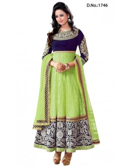 Heavy Designer Rakul Preet Green Color Long Anarkali Suit - 1746-1 (SD-1746)