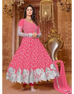 Heena Khan Designer Georgette Anarkali Suit - 602 (SD-Heena Colorful)