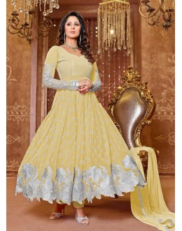 Heena Khan Designer Georgette Anarkali Suit - 603 (SD-Heena Colorful)
