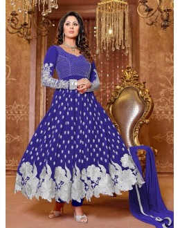Heena Khan Designer Georgette Anarkali Suit - 605 (SD-Heena Colorful)