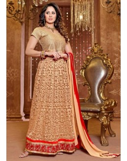 Latest Gold Color Designer Georgette Anarkali Suit - 941 (SD-Heena)