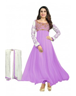 Karishma Kapoor Designer Georgette Anarkali Churidaar Suit - SD-30008-Light-Purple