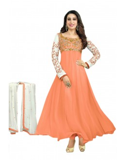Karishma Kapoor Designer Georgette Anarkali Churidaar Suit - SD-30008-Orange