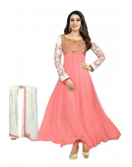 Karishma Kapoor Designer Georgette Anarkali Churidaar Suit - SD-30008-Peach