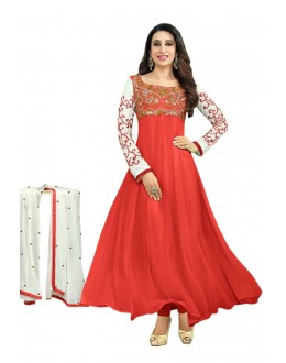 Karishma Kapoor Designer Georgette Anarkali Churidaar Suit - SD-30008-Red