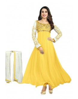 Karishma Kapoor Designer Georgette Anarkali Churidaar Suit - SD-30008-Yellow