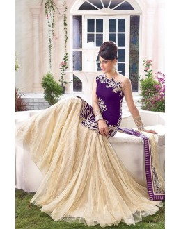 Fancy Designer Two Style Anarkali Suit - 10001-C (SD-ZOYA-1)