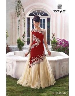 Fancy Designer Two Style Anarkali Suit - 10001-D (SD-ZOYA EXPRESS -1)
