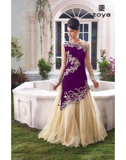 Fancy Designer Two Style Anarkali Suit - 10001-E (SD-ZOYA-1)
