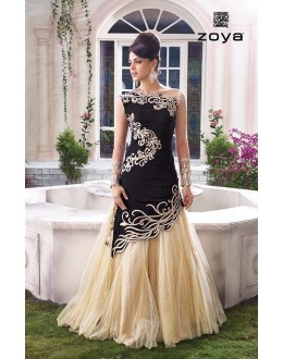 Wedding Wear Fancy Designer Two Style Anarkali Suit - 10001-B (SD-ZOYA-1)