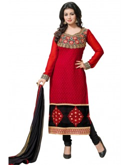 Fancy Designer Party Wear Un-Stitched Straight Suit - AT1001 (ST-AYSHA TARZEN)