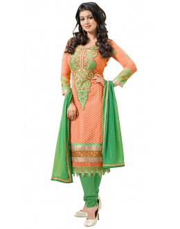 Fancy Designer Party Wear Un-Stitched Straight Suit - AT1005 (ST-AYSHA TARZEN)