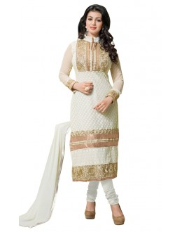 Fancy Designer Party Wear Un-Stitched Straight Suit - AT1006 (ST-AYSHA TARZEN)