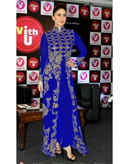 Bollywood Replica - Kareena Kapoor in Anamika Khanna Blue and Gold Outfit -1003(SIA)