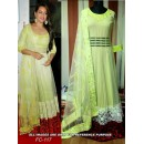 Bollywood Replica - Sonakshi Sinha Lime Green Anarkali Dress - FC-117