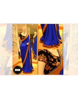 Bollywood Replica-Designer Glamorous Blue Georgette Party Wear Saree-5325(SIA -S-5300)