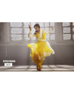 Bollywood Replica- Designer Deepika Padukone Yellow Georgette Salwaar Suit - TM114 ( TM-11 )