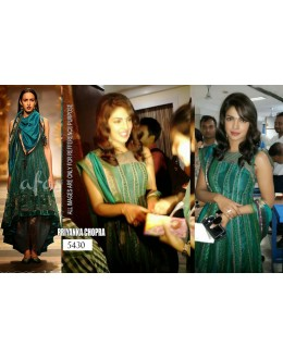 Bollywood Replica- Designer Priyanka Chopra Green Satin Party Wear Fancy Salwaar Suit- TM-111 ( TM-11 )