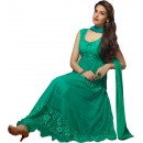 Stylish Designer Brasso Green colour Anarkali Suit - (Karishma 08)
