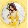 Ayesha Takia Designer Yellow & White Embroidered Party Wear Straight Cut Suit-4011( SD-Fashions )