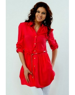 Office Wear Readymade Red Western Wear Dress - 1021004