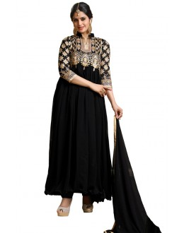 Ethnic Wear Black Georgette Anarkali Suit- 115451