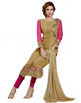 Office Wear Beige Georgette Salwar Suit- 115469