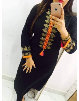 Fancy Black Georgette Kurti - 108042