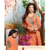 Diwali Special Orange Embroidered Georgette Straight Cut Suit - 121433(SOS-121)