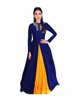 Bollywood Replica-Aditi Rao In Designer Blue Stylish Gown  - 108034