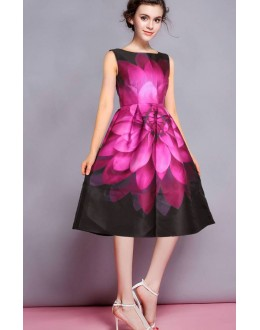 Fancy Readymade Pink Satin Western Wear Dress - 101020