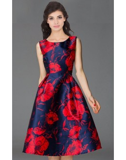 Fancy Readymade Blue & Red Western Wear Dress - 101037